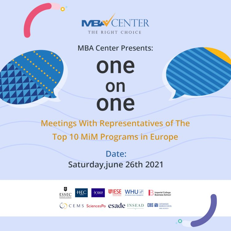 ONE ON ONE MEETINGS WITH REPRESENTATIVES OF THE TOP 10 MIM PROGRAMS IN EUROPE